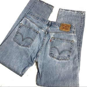 Levi's 501 button fly distressed jeans 33x32